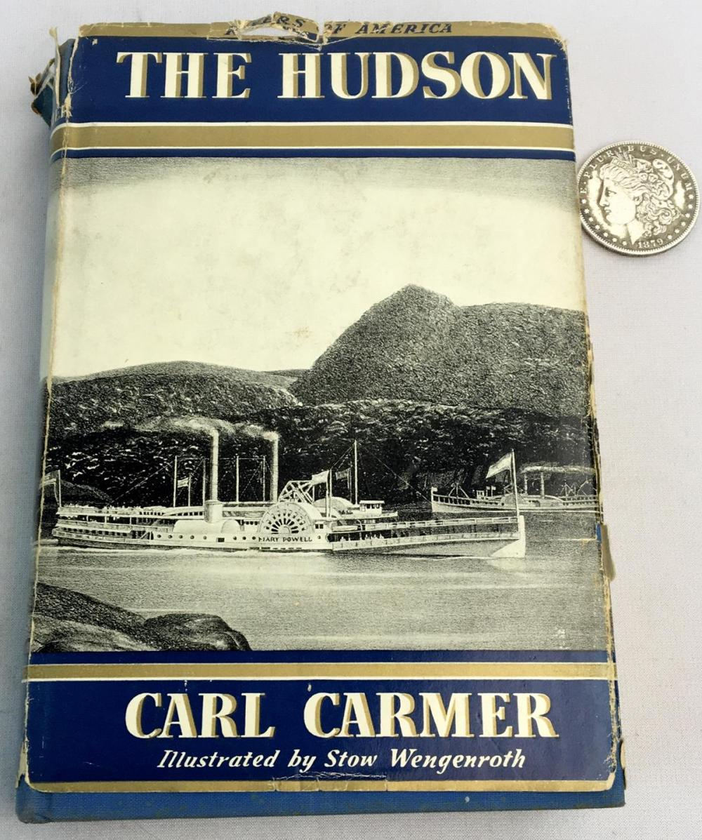 1939 The Hudson by Carl Carmer SIGNED w/ Dust Jacket Illustrated FIRST EDITION