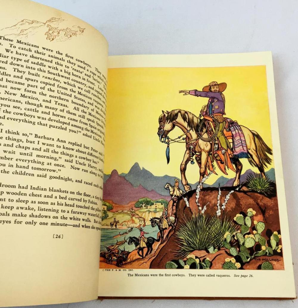 1936 The Book of Cowboys by Holling C. Holling Illustrated FIRST EDITION