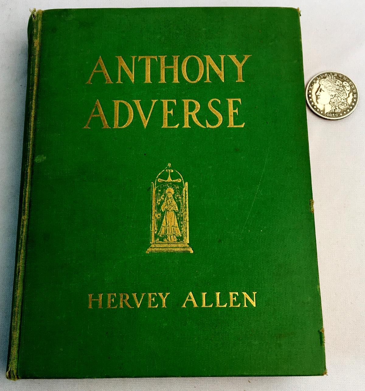 1934 Anthony Adverse by Hervey Allen Illustrated by N.C. Wyeth FIRST EDITION