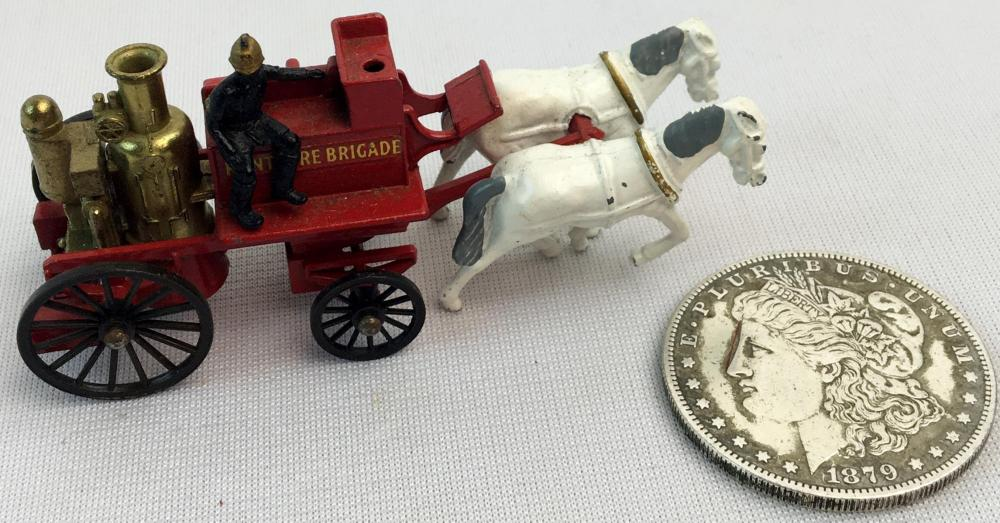 "Vintage 1960's Lesney Matchbox Models of Yesteryear No. 4 ""Kent Fire Brigade"" Horse Drawn Fire Wagon"