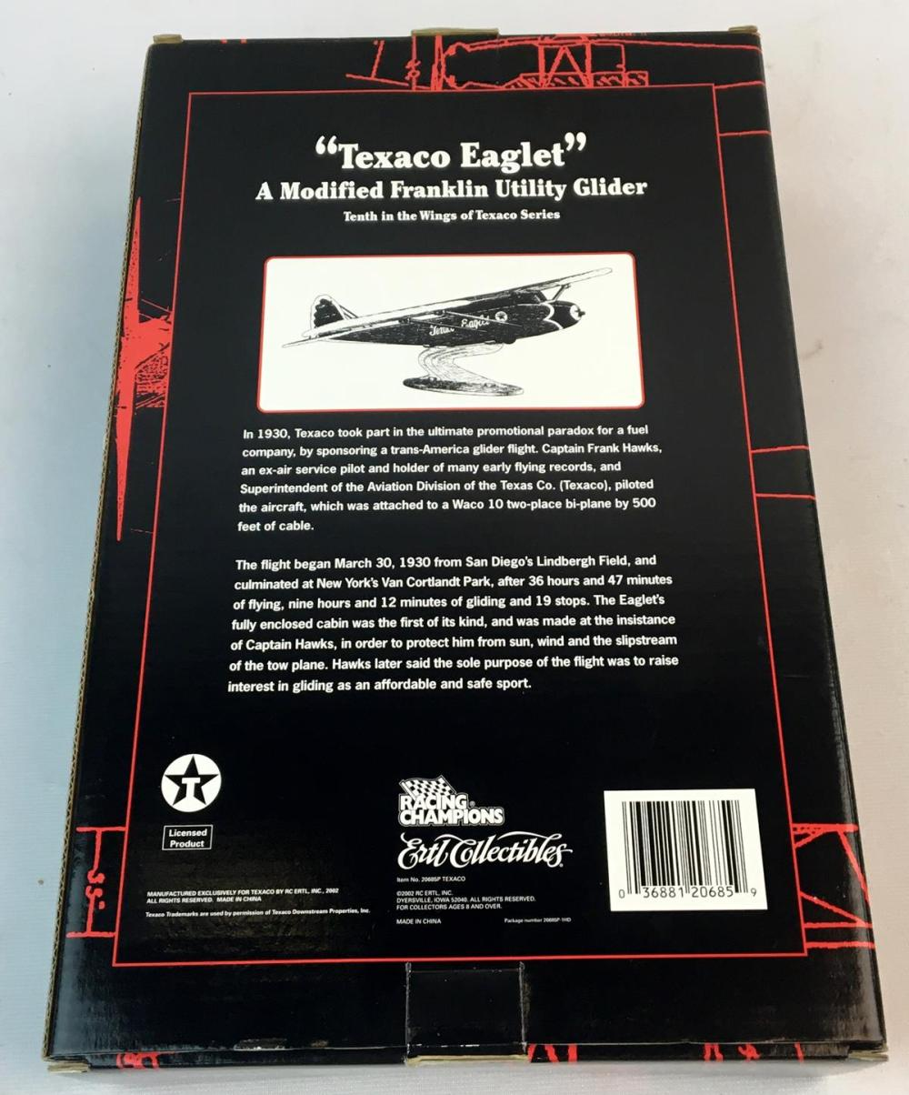 """2002 WINGS OF TEXACO SPECIAL EDITION /""""TEXACO EAGLET/""""  10th IN SERIES ERTL CHINA"""