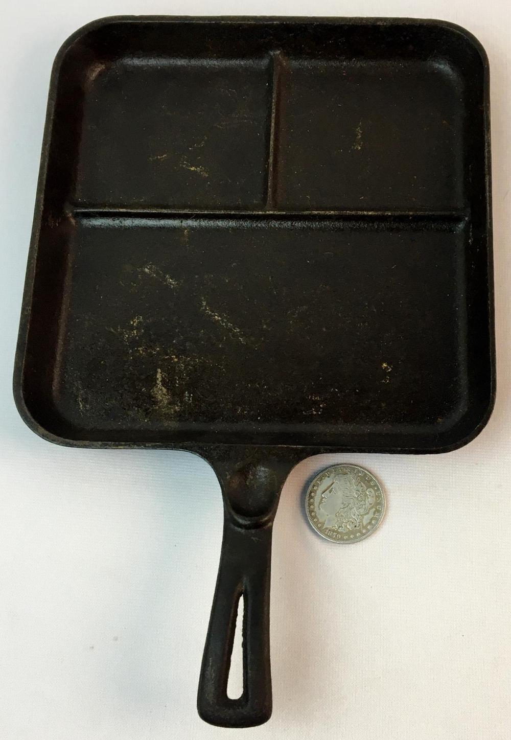 Vintage Wagner Ware Sidney -O- Bacon and Egg Breakfast Cast Iron 1101 C Skillet