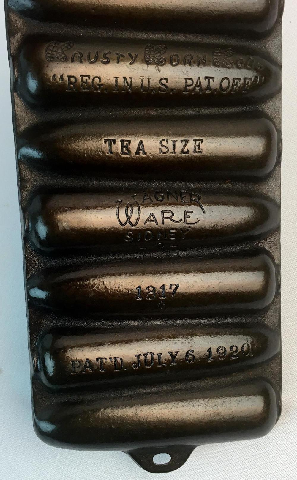 Antique 1920 Wagner Ware Sidney -O- Cast Iron Krusty Korn Kobs Tea Size Corn Bread Pan 1317 C w/ 7 Forms