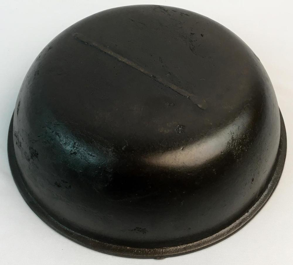 "Antique 19th Century Unmarked Cast Iron Bowl w/ Rolled Edge 11.75"" Diameter"