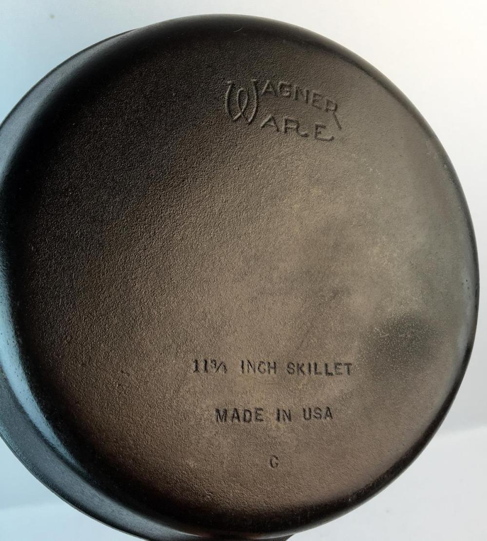 "Antique Wagner Ware No. 10 Cast Iron 11-3/4"" C Skillet"