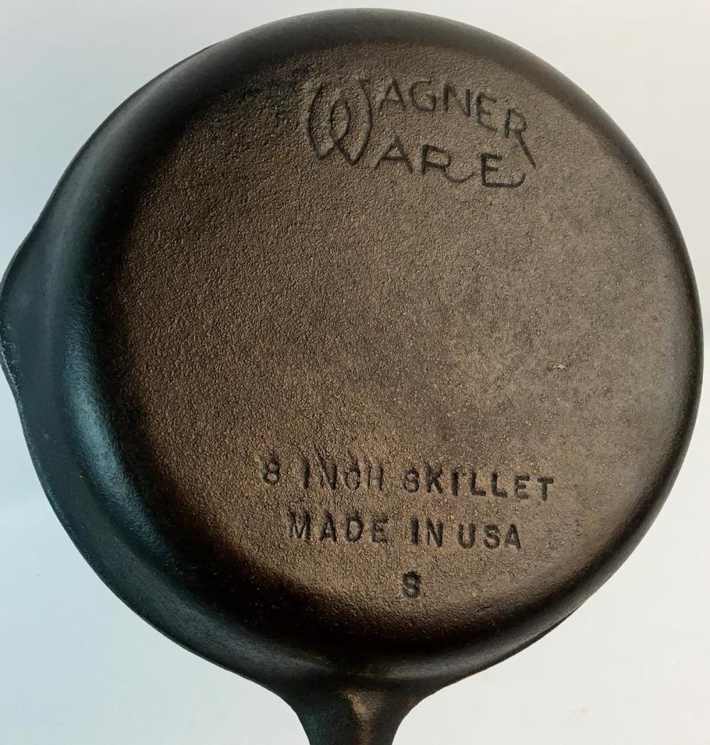 """Vintage Wagner Ware No. 5 Cast Iron 8"""" Skillet"""