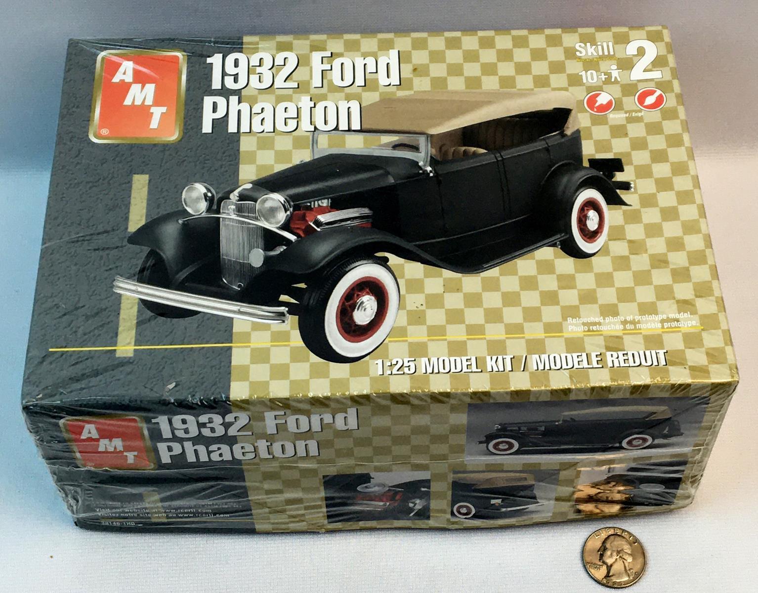 2003 AMT 1932 Ford Phaeton 1/25 Scale Model Kit UNBUILT