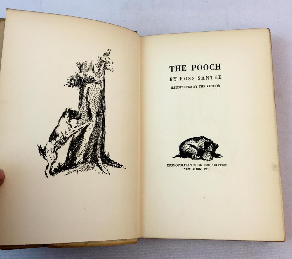 1931 The Pooch by Ross Santee w/ Dust Jacket FIRST EDITION