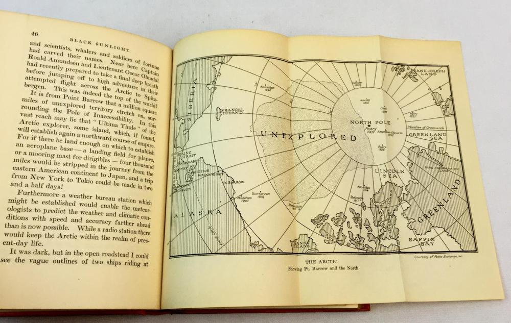 1926 Black Sunlight: A Log of the Arctic by Earl Rossman FIRST EDITION