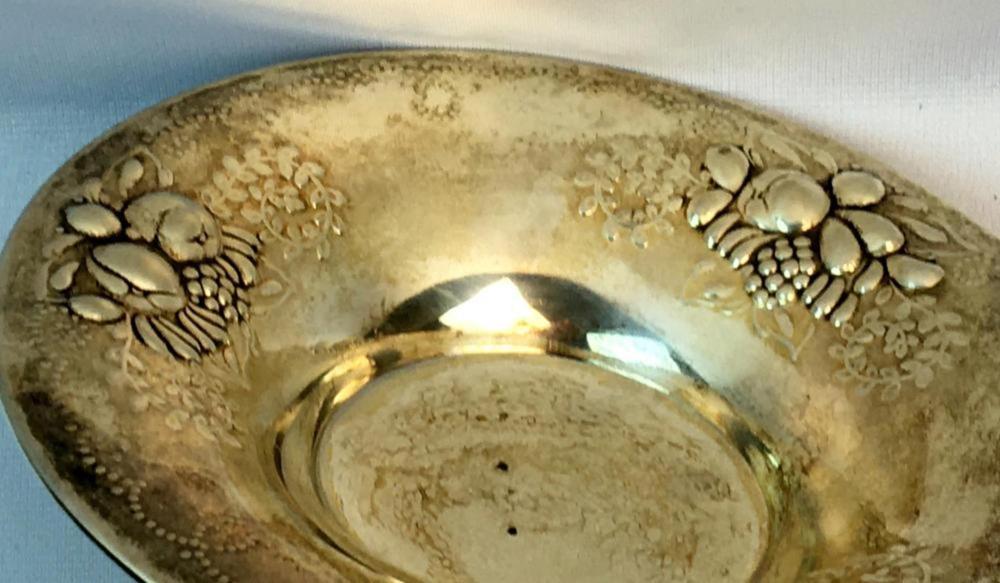 Antique c. 1900 David Andersen 830 Sterling Silver Pair of Embossed Footed Fruit Bowls 4783/1