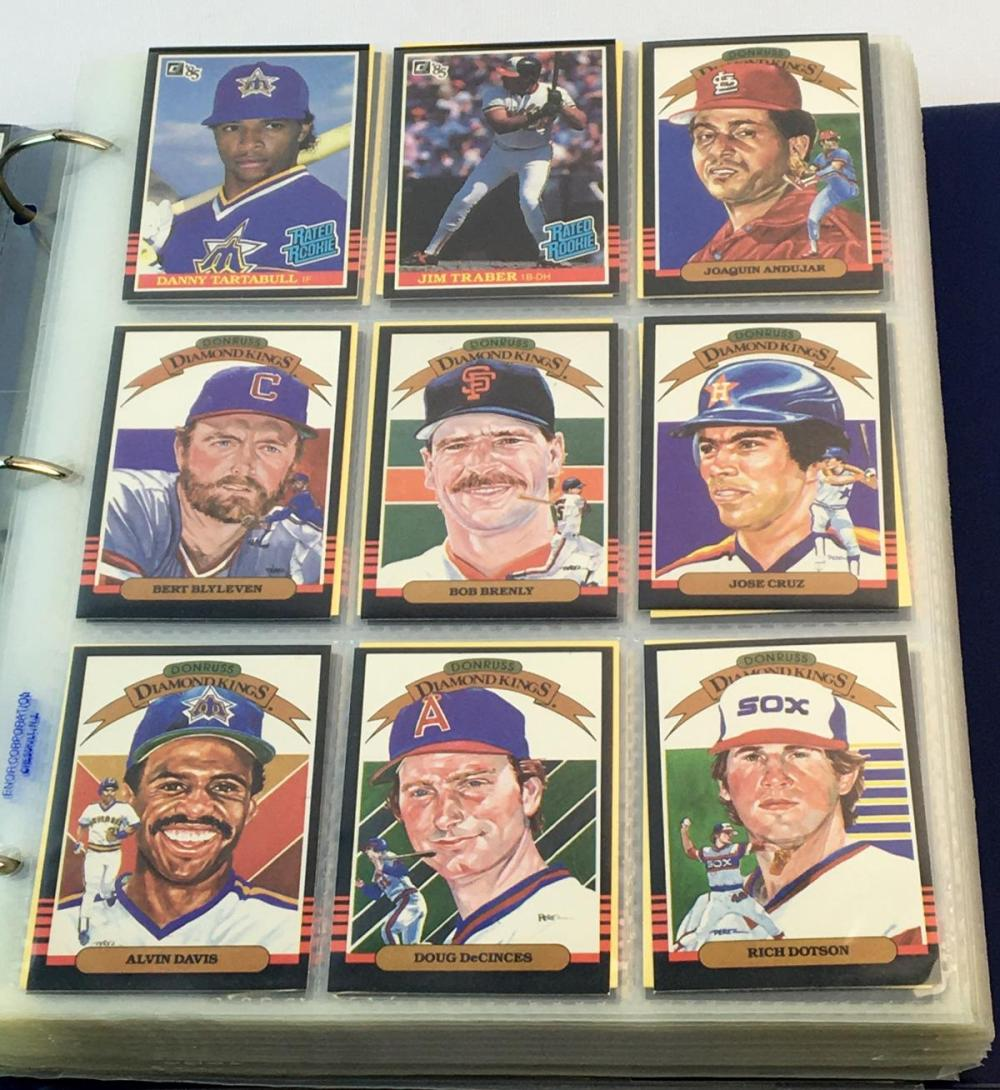 1985 Donruss Baseball 660 Card Complete Set (Clemens, Puckett, Hershiser Etc..)