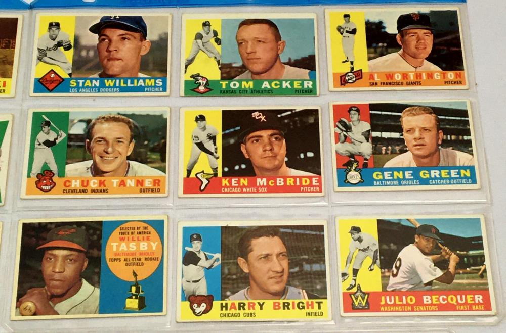 1960 Topps Lot of 52 Set Break Baseball Cards (Rookies, Team Cards, Managers, Etc..)