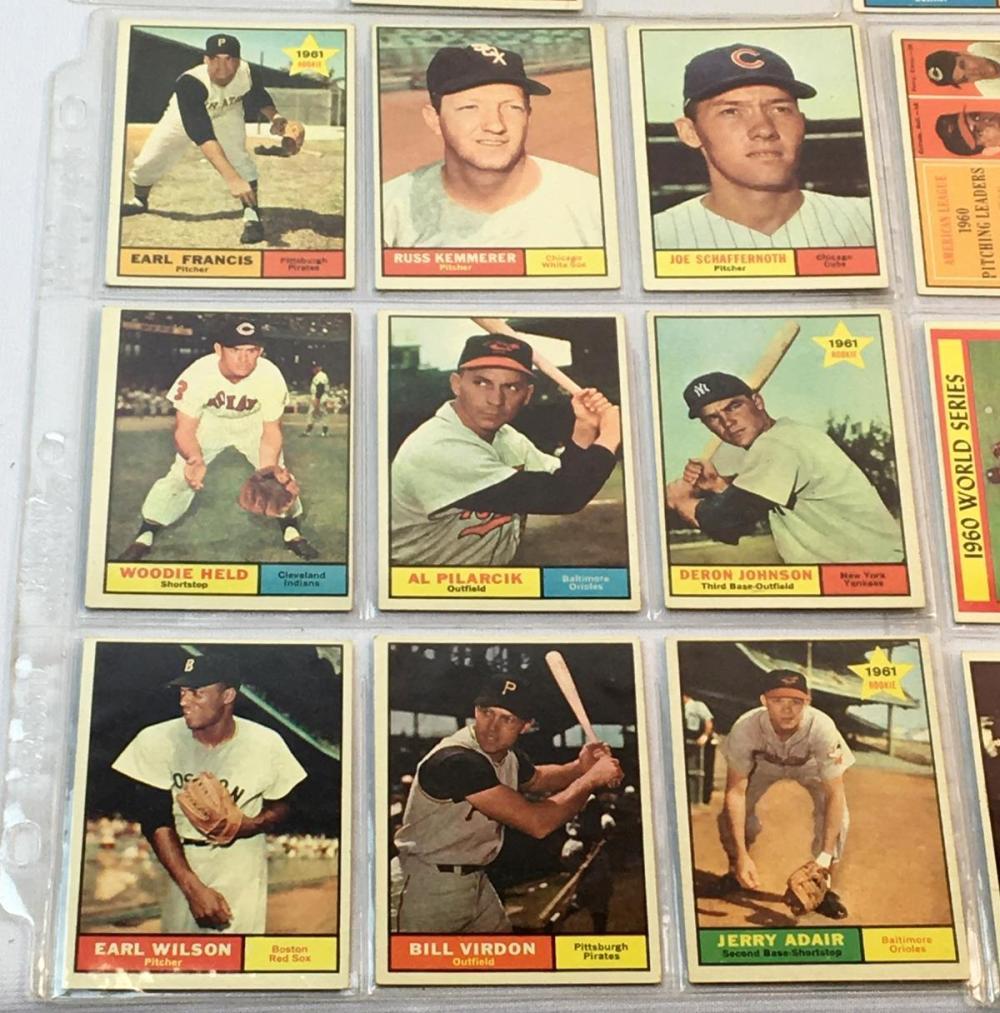 1961 Topps Lot of 52 Set Break Baseball Cards (Rookies, League Leaders, Etc..)