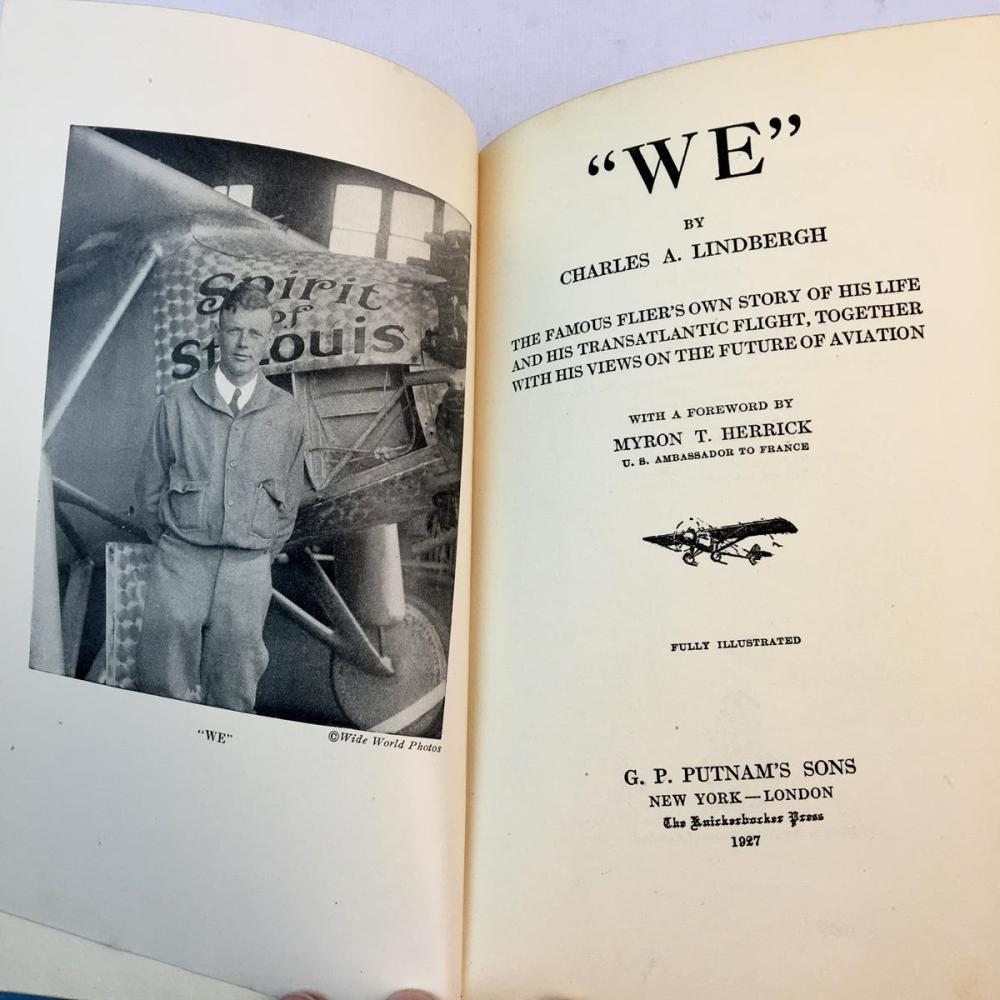 1927 We by Charles A. Lindbergh FIRST EDITION