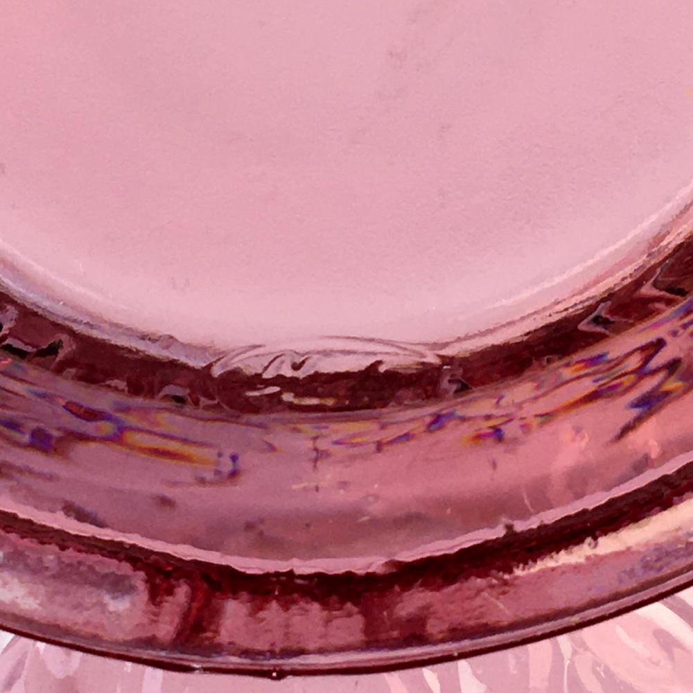 Fenton Art Glass Cranberry Water Lily Rose Bowl Vase