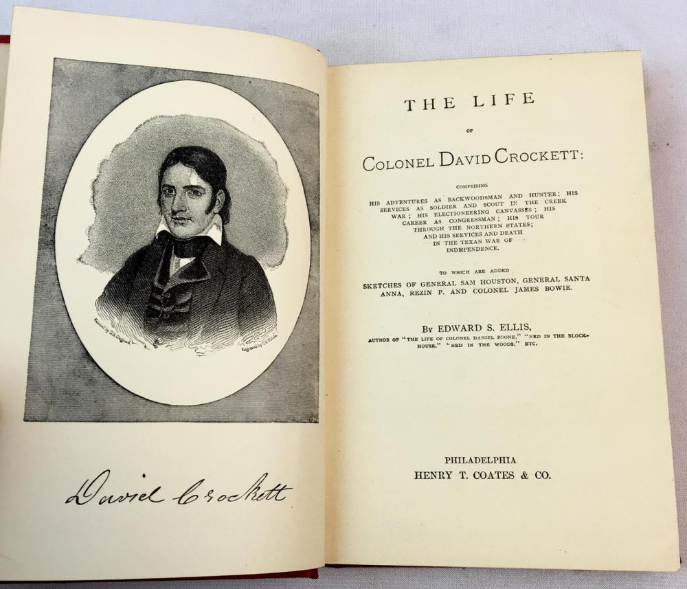 1884 The Life of Colonel David Crockett by Edward S. Ellis FIRST EDITION