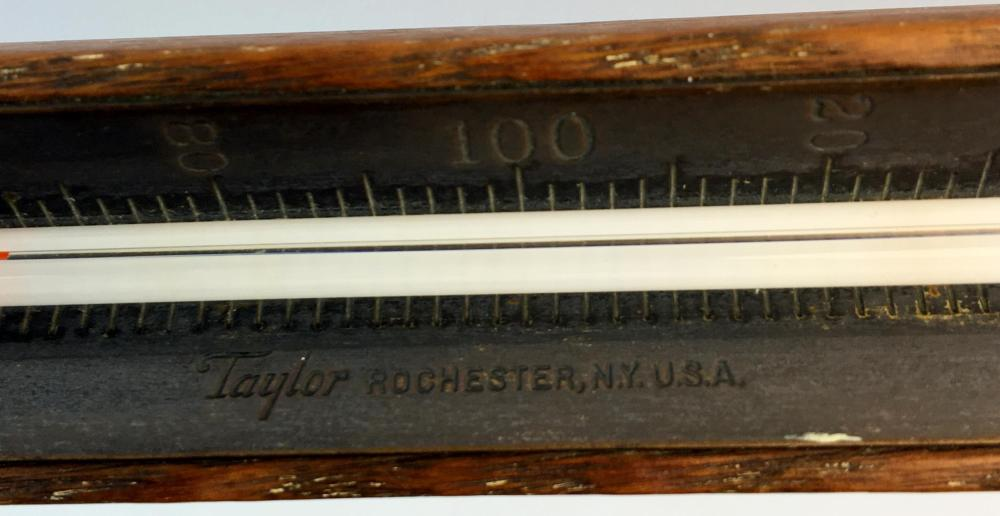 RARE Antique Taylor Candy Thermometer w/ Wood and Brass