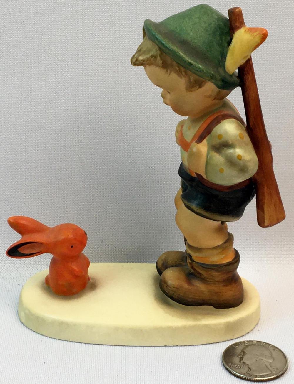 "Vintage Hummel Figurine TMK-3 ""Sensitive Hunter"" #6/0 X Crossed Suspenders Western Germany"