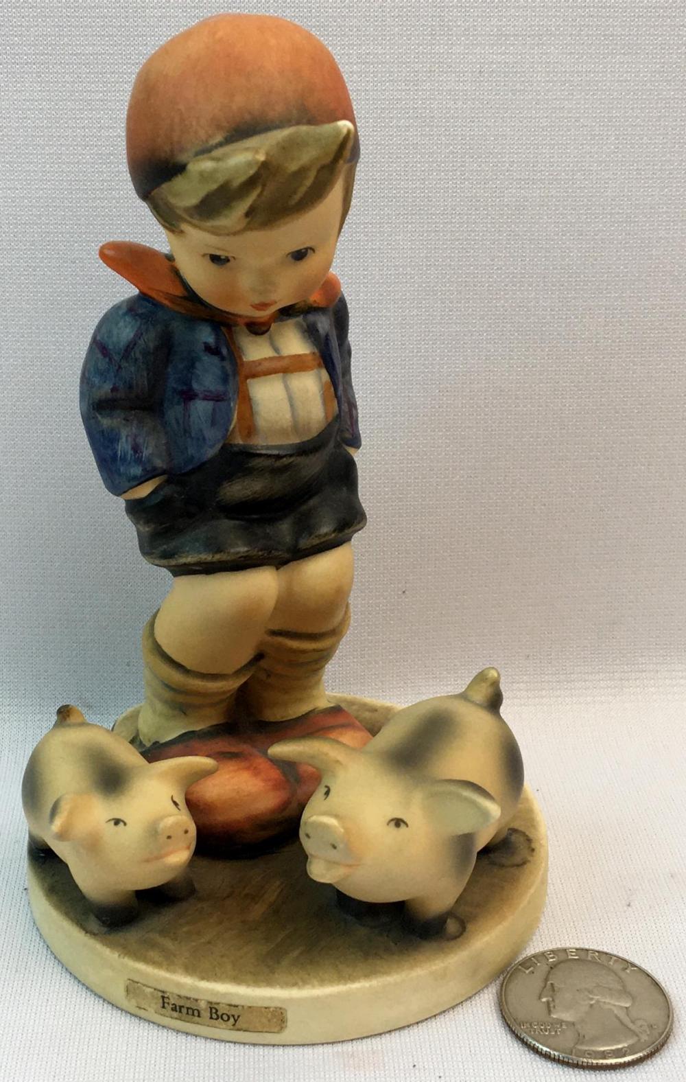 "Vintage Hummel Figurine TMK-3 ""Farm Boy"" #66"