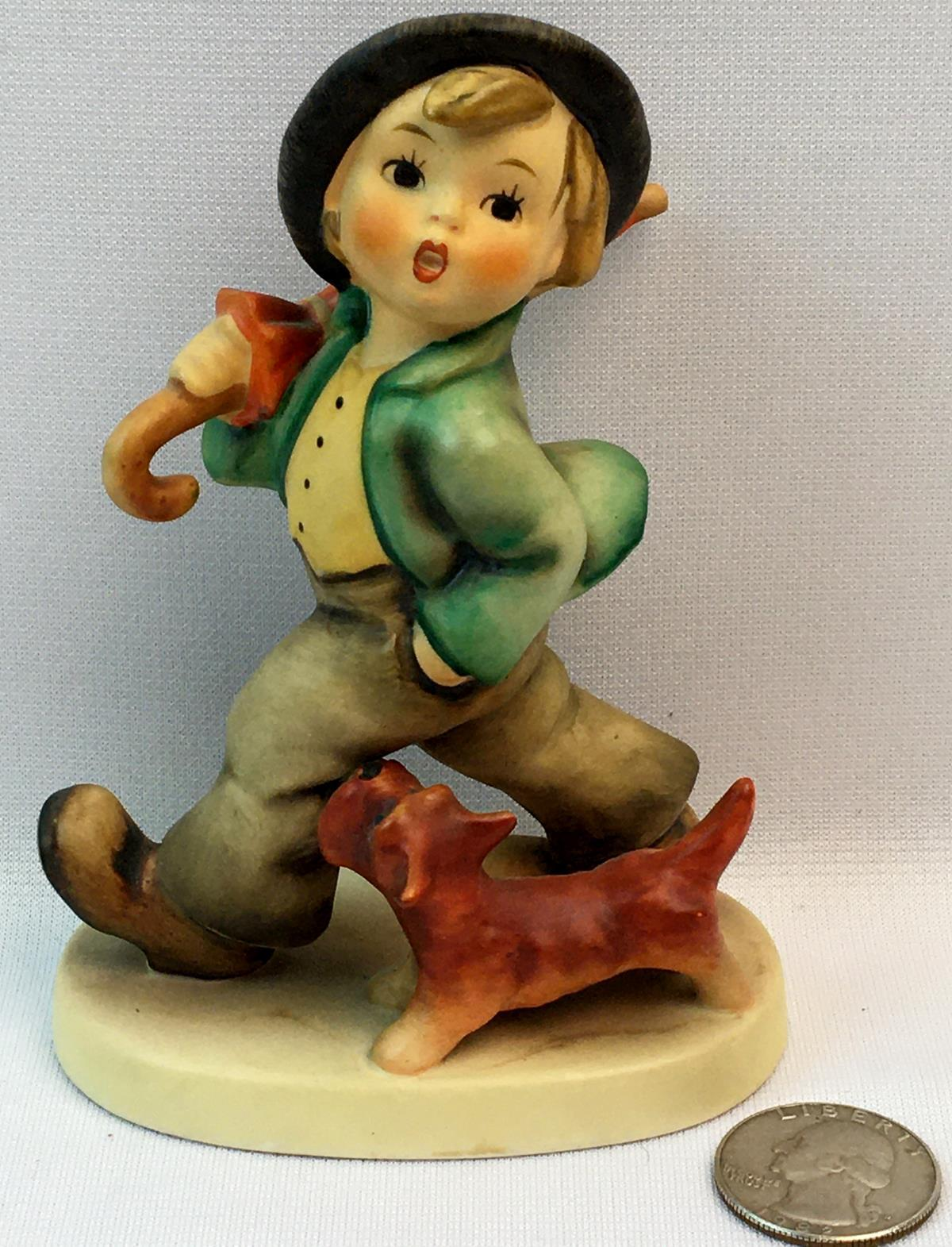 "Vintage Hummel Figurine TMK-3 ""Strolling Along"" #5"