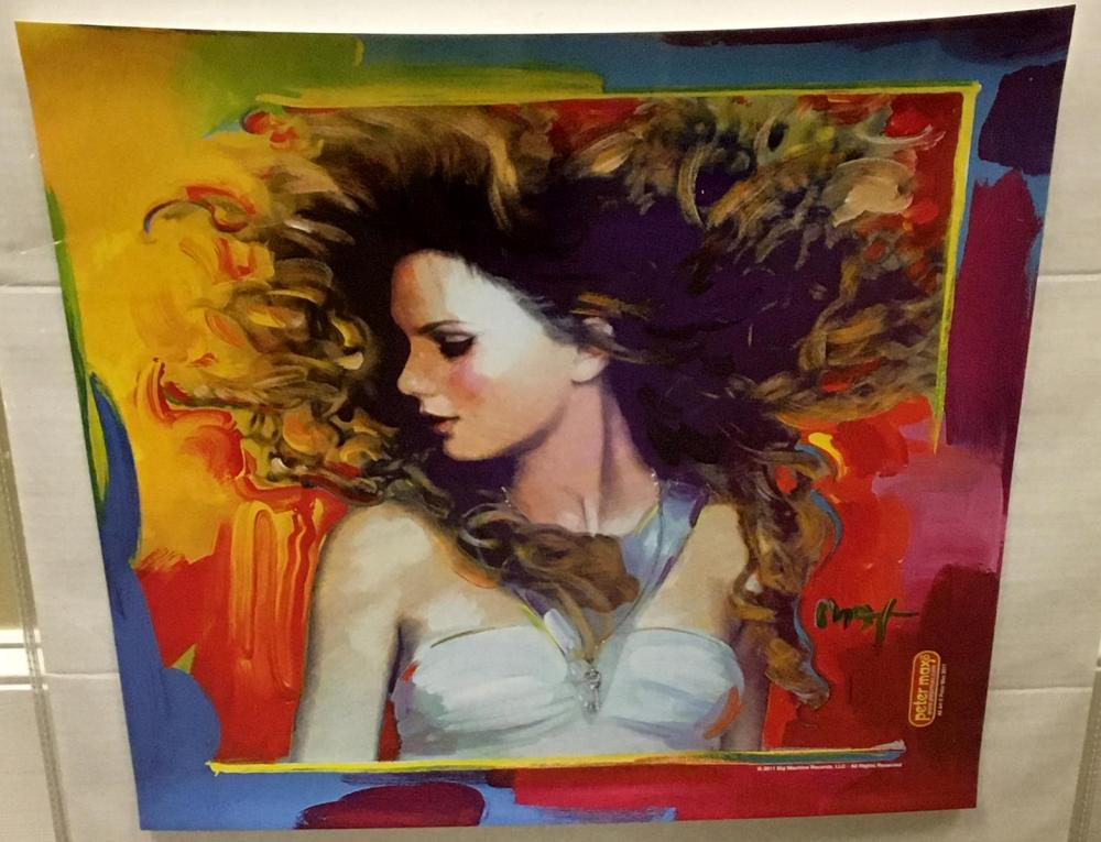 Lot Taylor Swift Fearless Album Cover Art Print Poster By Peter Max
