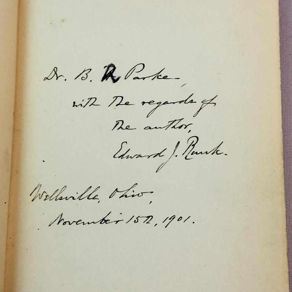 1901 Washington: A National Epic by Edward Johnson Runk AUTHOR SIGNED