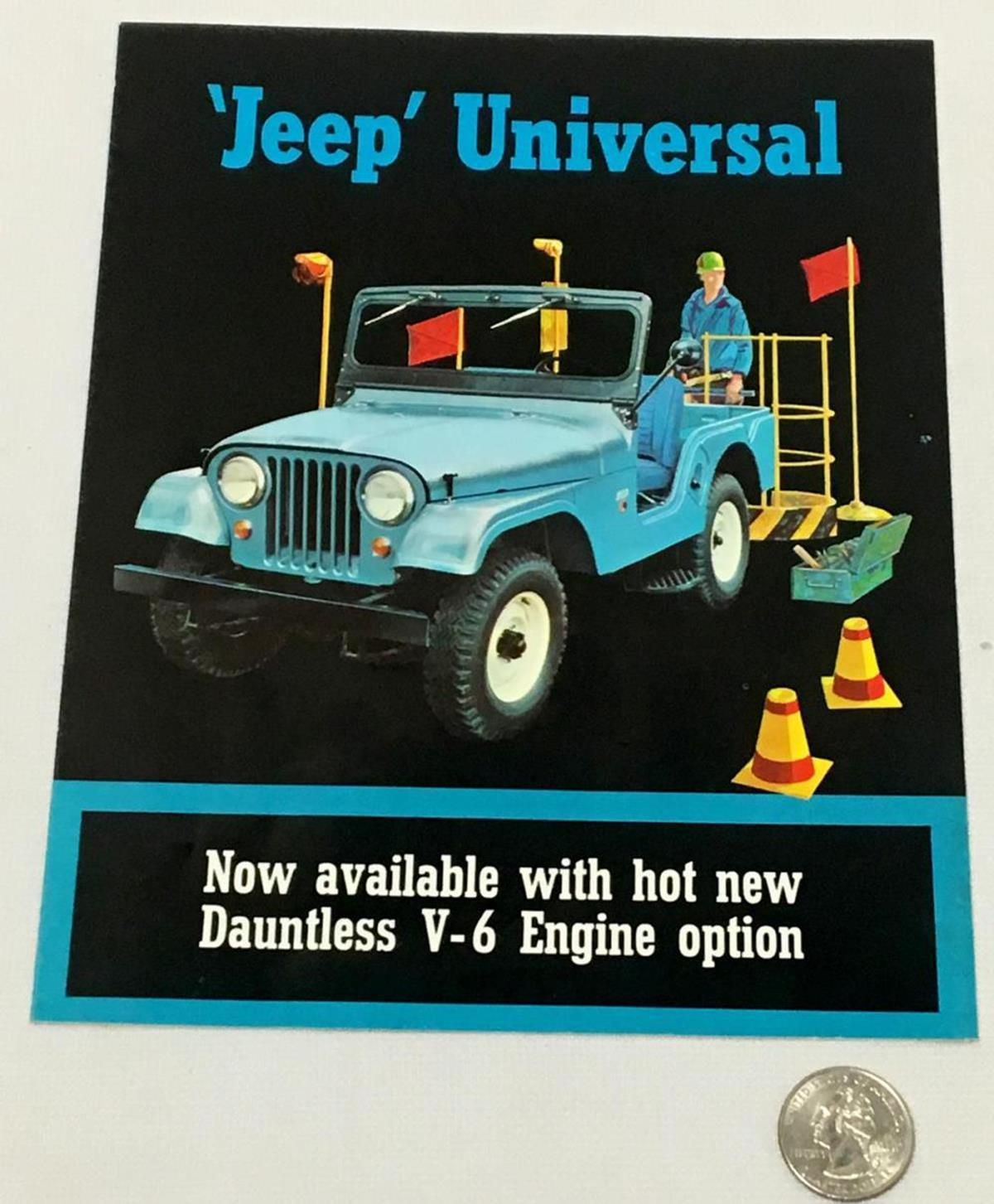 Vintage 1964 / 1965 Jeep Universal Display Brochure Advertisement