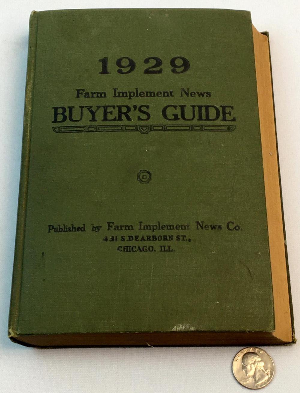 1929 Farm Implement News Buyer's Guide Classified Directory Vol. XXXVIII