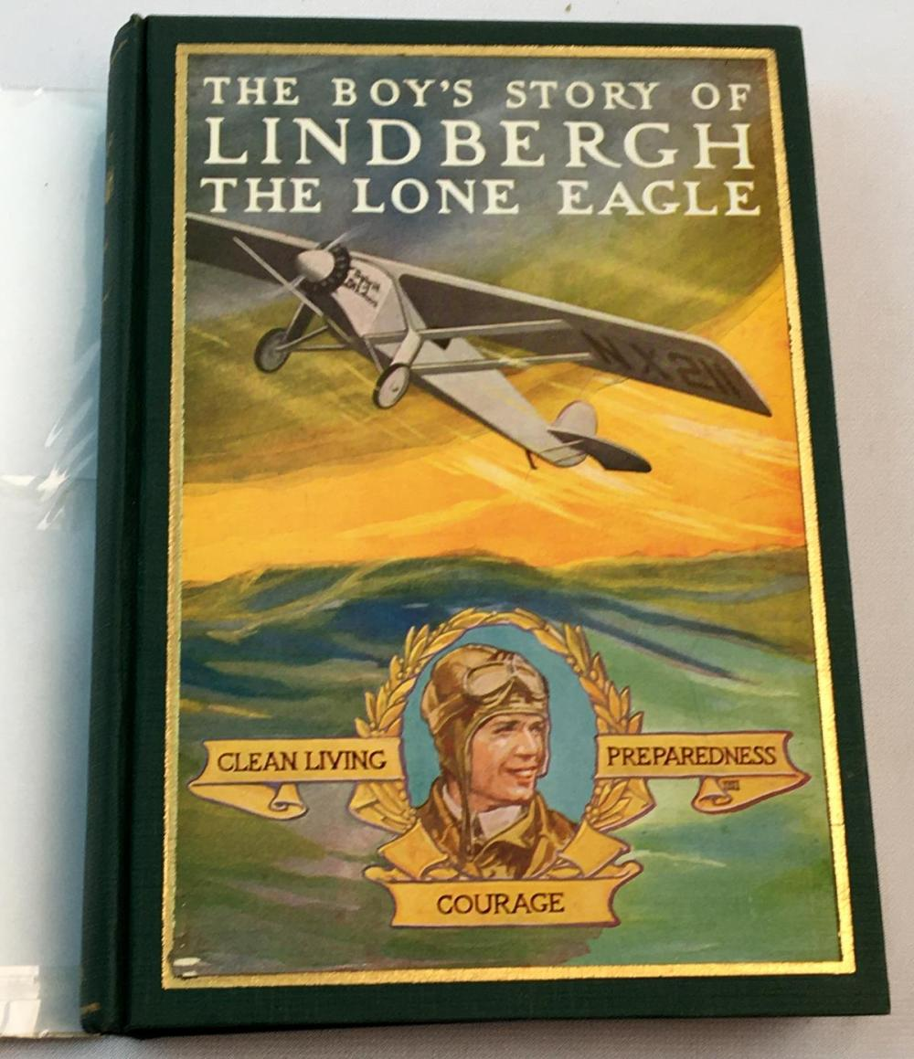 1928 The Boy's Story of Lindbergh The Lone Eagle by Richard J. Beamish w/ Dust Jacket FIRST EDITION