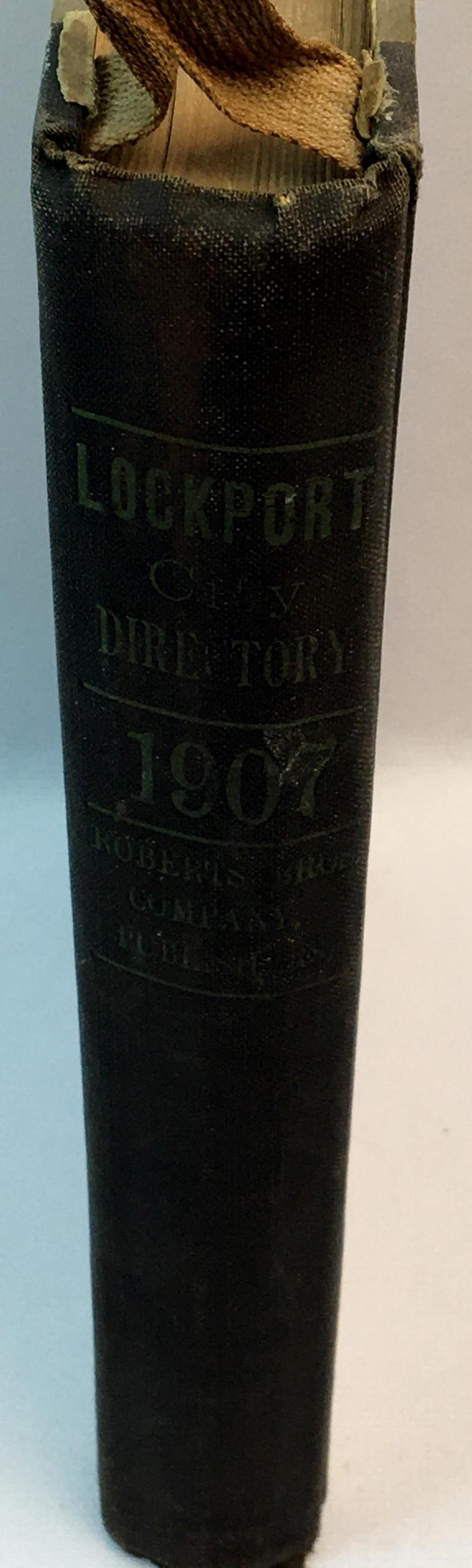Lockport, NY. City Directory for 1907 Roberts Brothers Co.