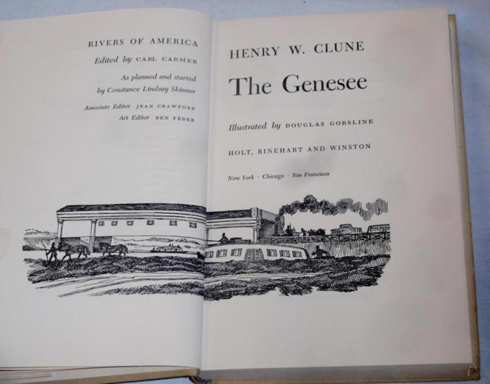1963 Rivers Of America The Genesee By Henry W. Clune SIGNED FIRST EDITION