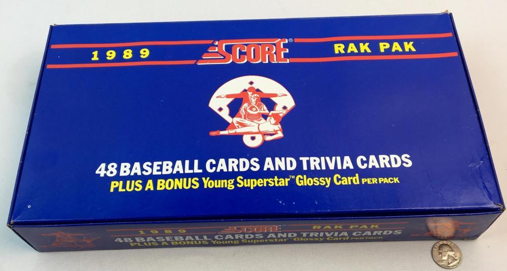1989 Score Baseball Rak Pak Box 24 Packs 48 Packs Per Rak Pak
