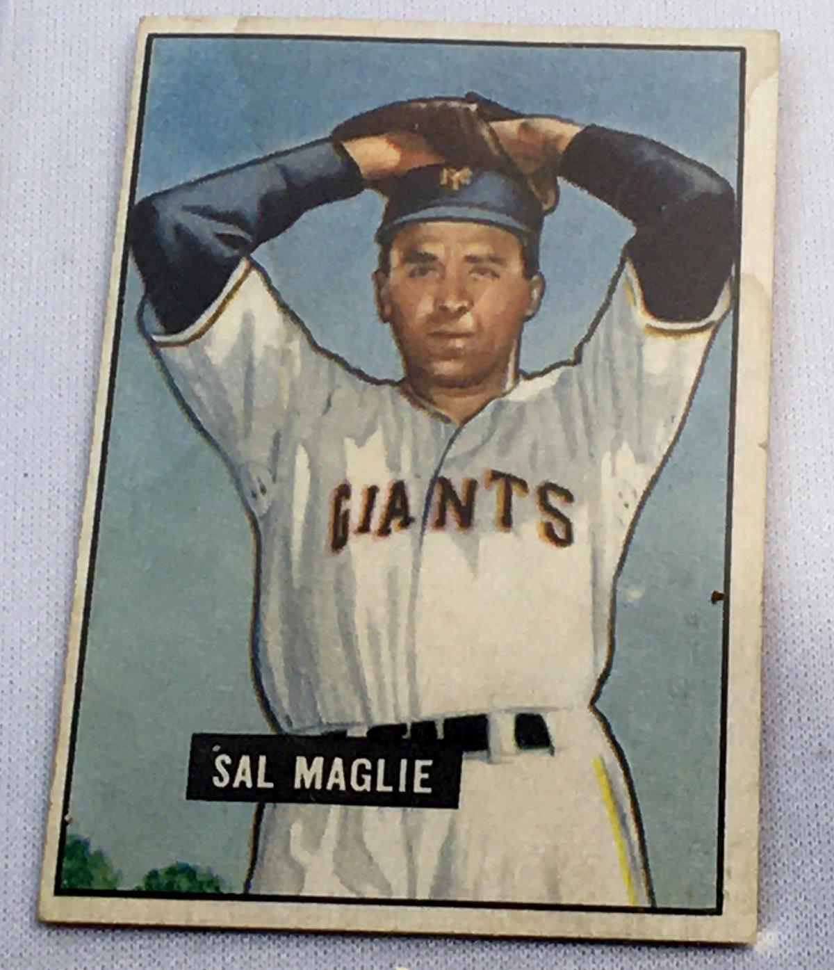 1951 Bowman #127 Sal Maglie New York Giants Rookie Card