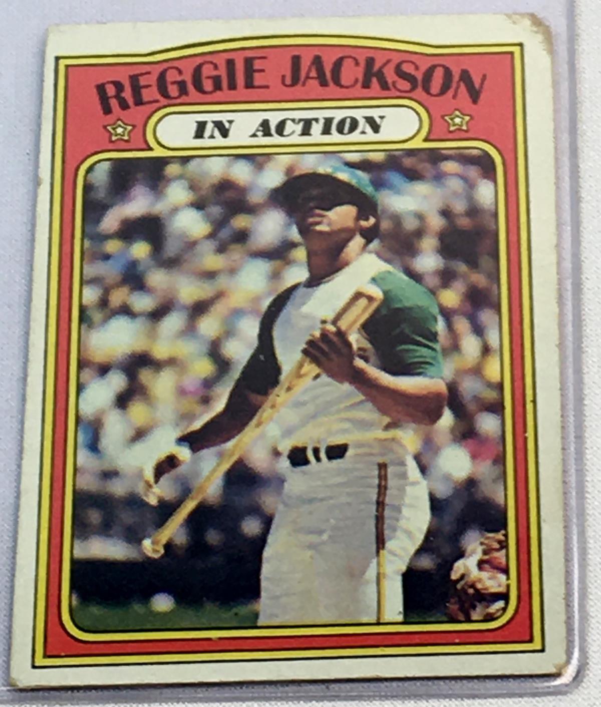1972 Topps Set Break #436 Reggie Jackson IA Baseball Card
