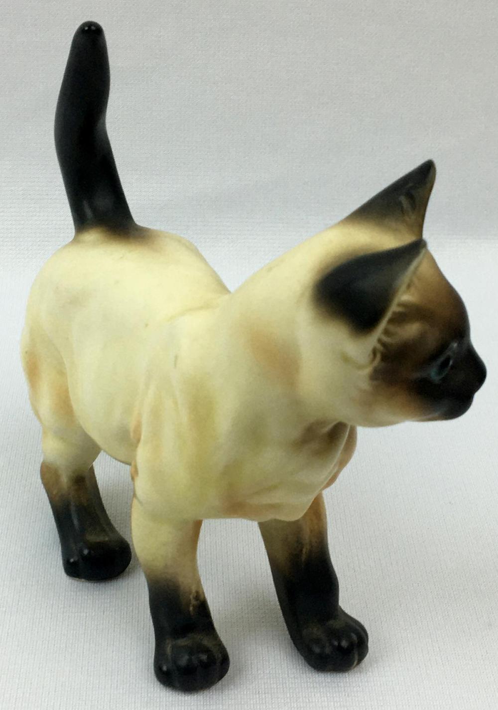 Vintage 1960's Lefton Siamese Cat Figurine Japan