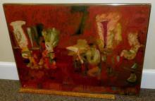 Bernard Pfriem (American, 1916 - 1996) In Color on Sundays Oil on Board Painting 1950