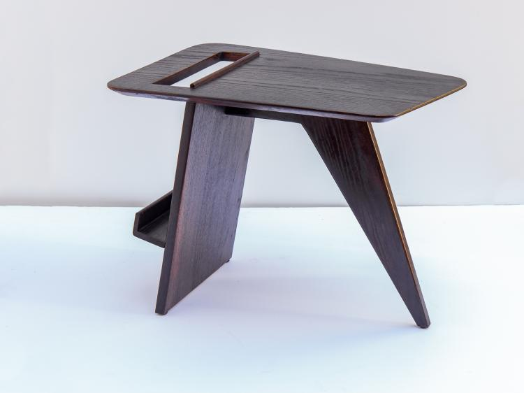 Ebonized Jens Risom Magazine Table