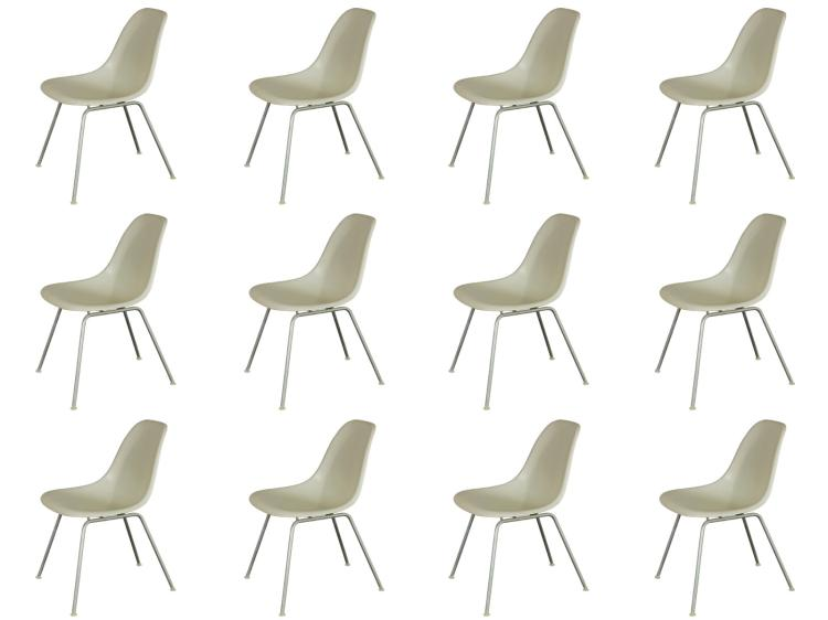 White Eames Shell Chairs-priced per chair