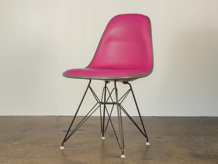 Hot Pink Padded Eames Chair
