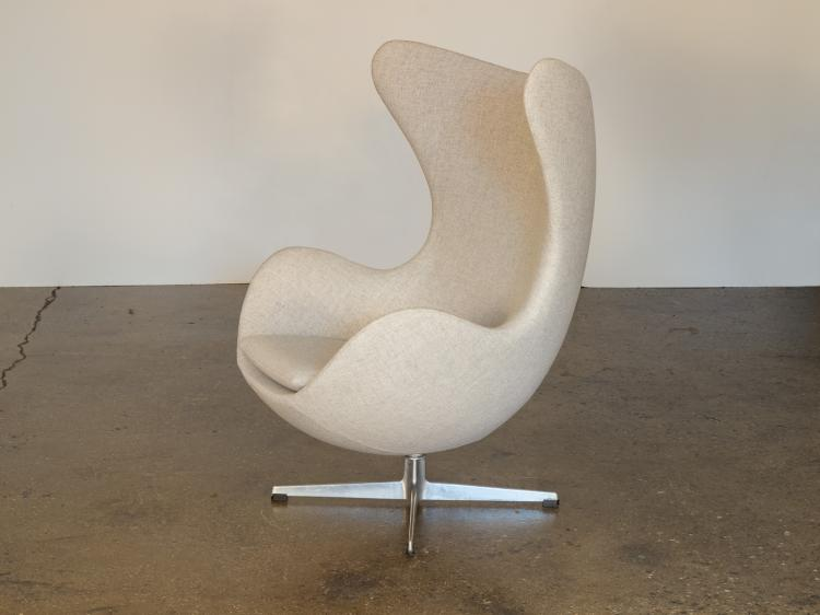 Egg Chair and Footstool by Arne Jacobsen