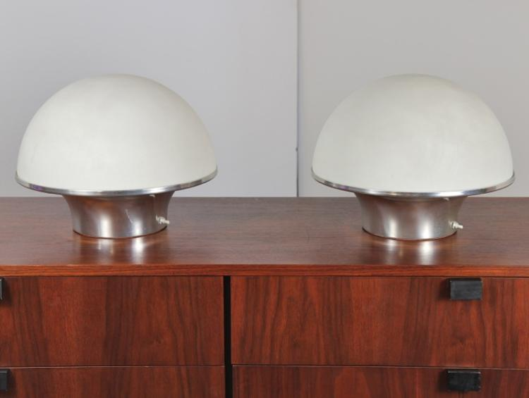 Mid-Century Mushroom Table Lamps