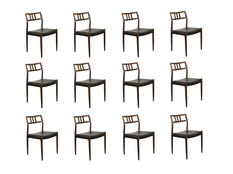 12 Rosewood Moller Dining Chairs
