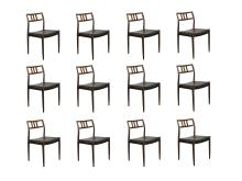 12 Rosewood M?ller Dining Chairs