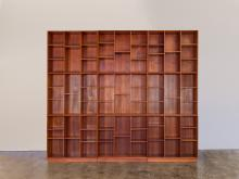 Modular Wall of Stacking Bookcases by Peter Hvidt and Orla Mølgaard-Nielsen