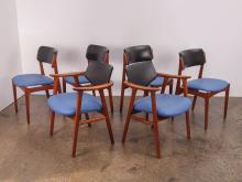 Set of 6 Erik Buck Style Dining Chairs