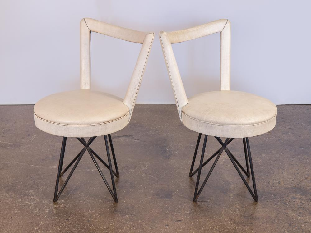 1950s Accent Chairs.1950s Occasional Side Chairs