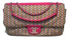 Chanel Pink Rubber Raincoat Classic Flap Shoulder Bag