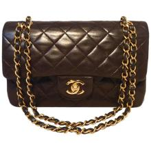Chanel Black Brown Quilted Leather 9