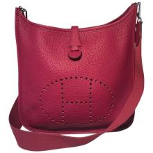 RARE Hermes Cherry Clemence Leather Evelyn III PM Shoulder Bag