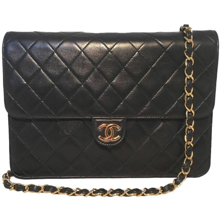 Chanel Black Quilted Leather Classic Flap Shoulder Bag